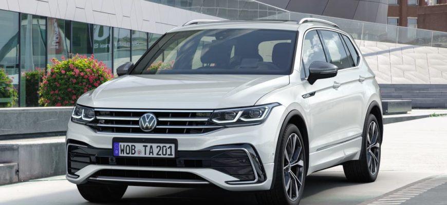 Volkswagen Tiguan Allspace 2022 фото в России