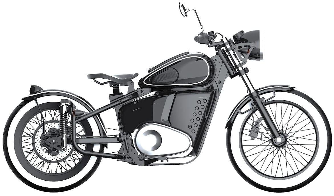 Электромотоцикл Иж-49 сбоку