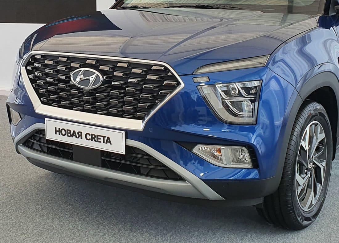 Новая Hyundai Creta 2022 фары, бампер