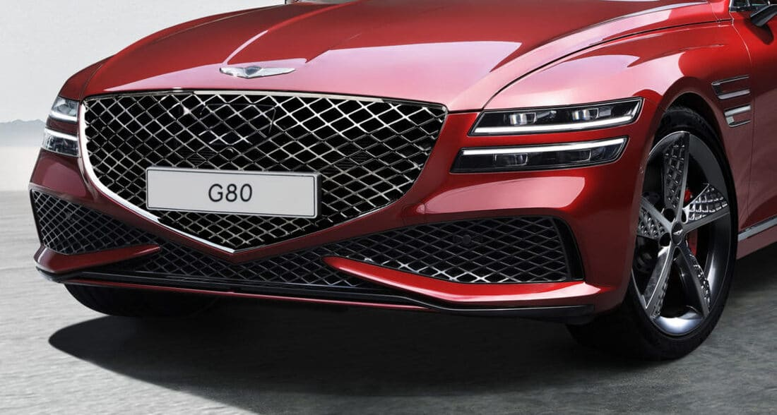фары, решетка, бампер Genesis G80 Sport 2022