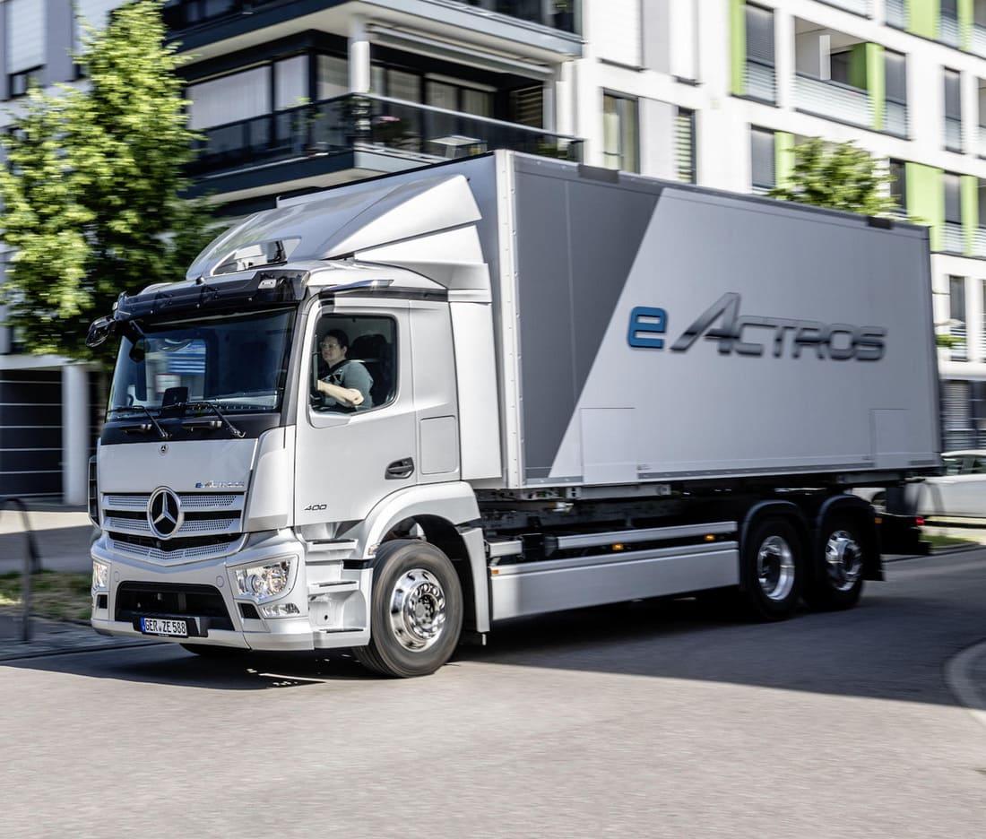 Mercedes-Benz eActros запас хода