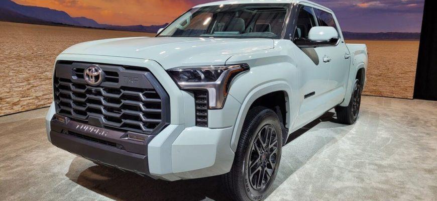 новая Тойота Тундра 2022 фото