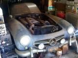 Mercedes 300 SL Gullwing Coupe 1955 года случайно найден в сарае